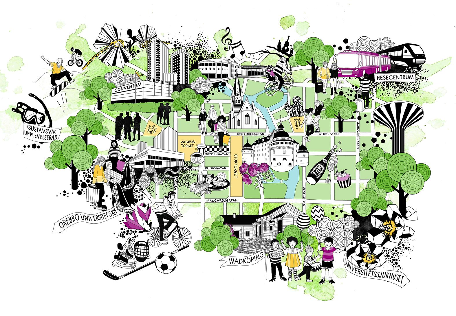 örebro karta CITY ÖREBRO KARTA   Hue Huynh | Hue Huynh örebro karta